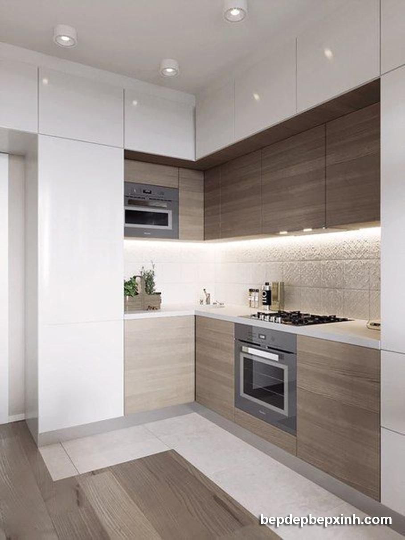 Tủ bếp acrylic đẹp HCM 01
