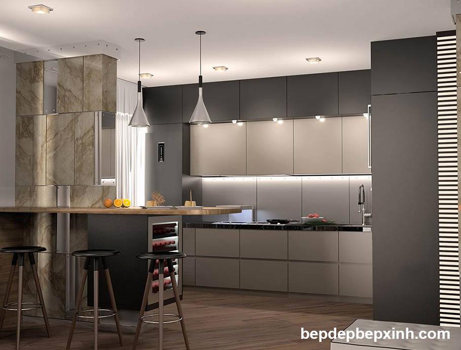 Tủ bếp acrylic đẹp HCM 02