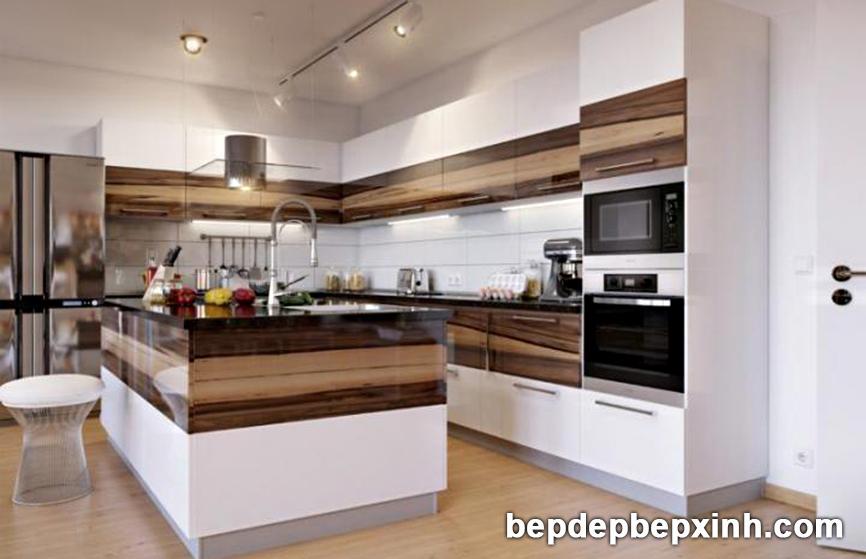 Tủ bếp acrylic đẹp HCM 04