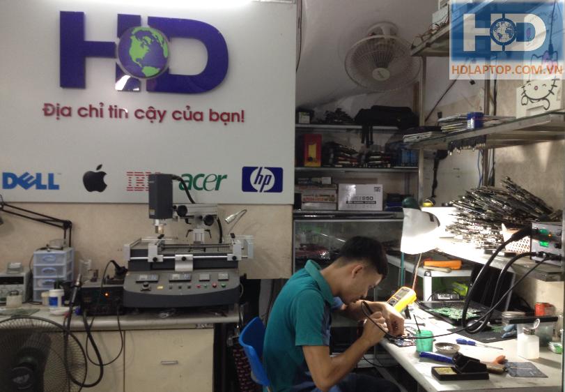 Sửa chữa laptop - Quy trình kiểm tra và sửa main laptop
