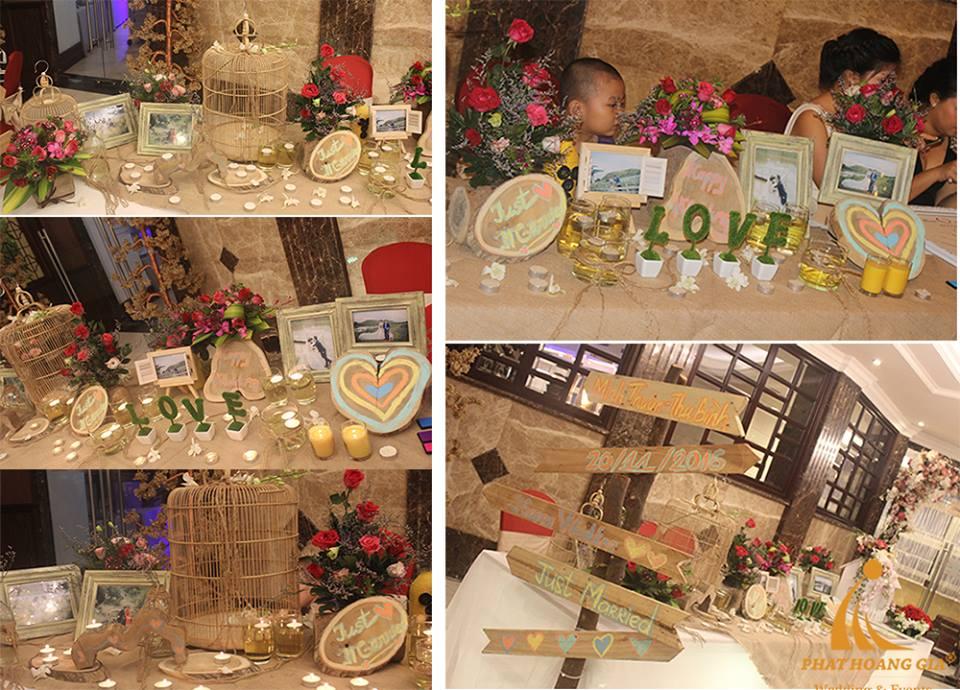 trang trí bàn gallery tiệc cưới 3