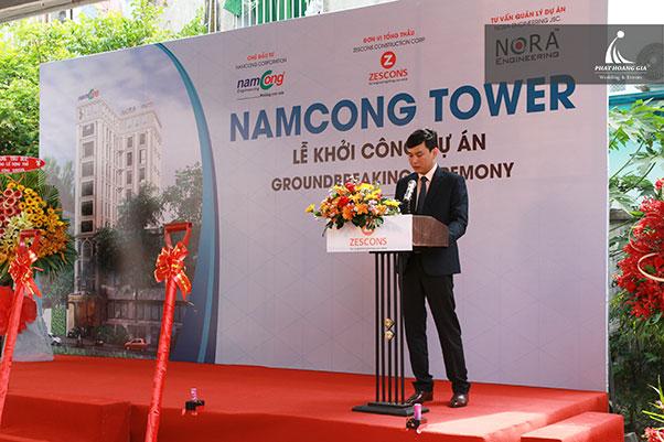 lễ khởi công namcong tower