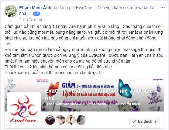 Spa massage bầu ở Hà Nội