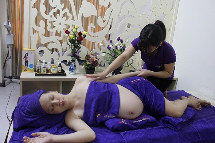 Dịch vụ massage bầu tại nhà Hà Nội