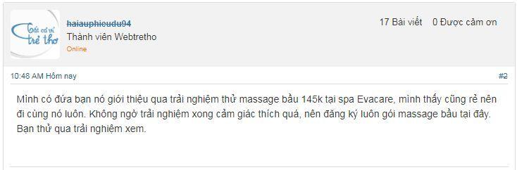 Spa Massage bà bầu ở đâu Hà Nội