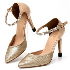 Giày cao gót kim tuyến đính đá