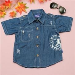 Sơ mi giả jeans phong cách cho bé TSM095