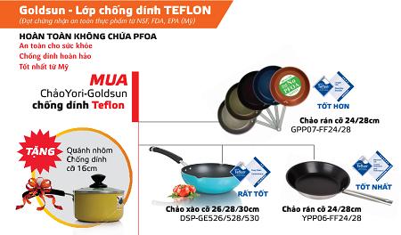 Vì sao người tiêu dùng Việt chỉ tin dùng chảo chống dính Teflon?