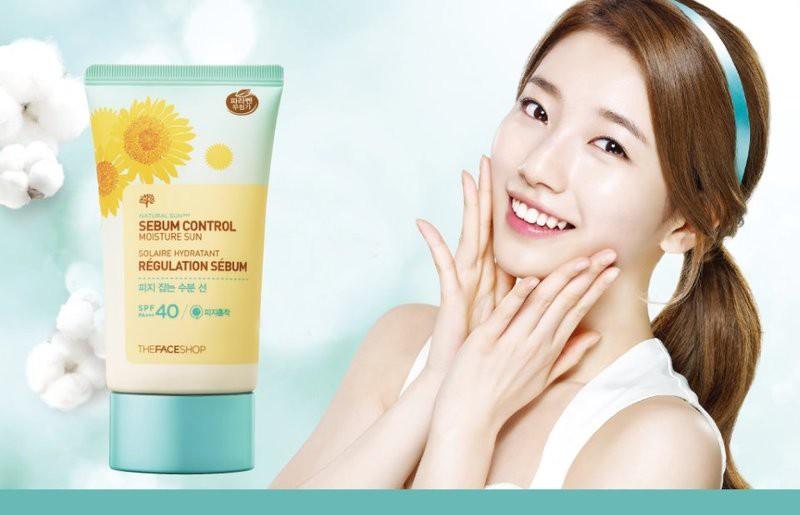 Kem chống nắng kiểm soát dầu Natural Sun ECO Sebum The faceshop - KCNTF002